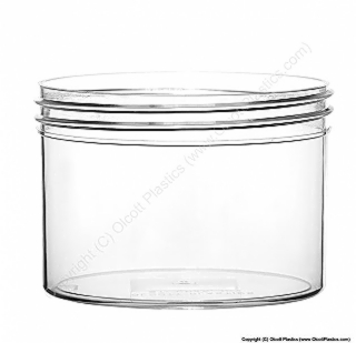 Crystal Styrene Single-Wall Straight Sided Plastic Jar
