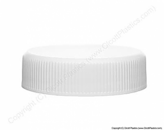 Plastic Polypropylene Smooth Top Ribbed Side Cap