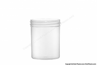 Plastic Clarified Polypropylene Single-Wall Straight Sided Jar