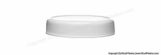 Plastic Polypropylene Recessed Top Ribbed Side Cap