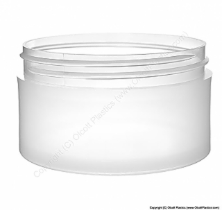 Plastic Polypropylene Heavy Wall Straight Sided Jar