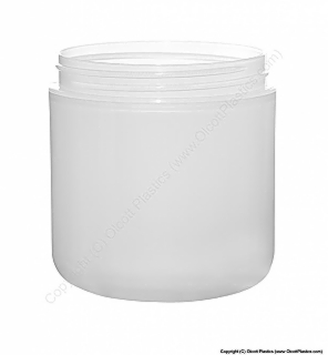 Plastic Clarified Polypropylene Double Wall Domed Based Jar