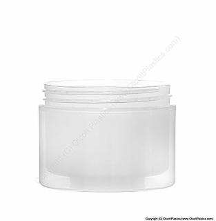 Plastic Polypropylene Double Wall Straight Sided Jar