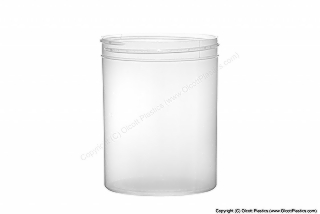 Clarified Polypropylene Single-Wall Straight Sided Plastic Jar