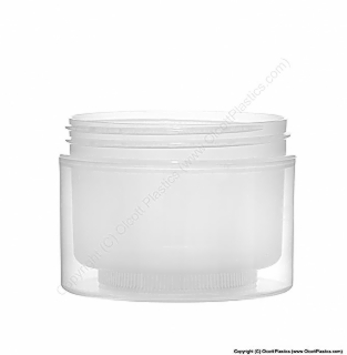 Polypropylene Double Wall Straight Sided Plastic Jar