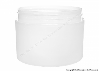 Polypropylene Double Wall Straight Side Frosted plastic jar